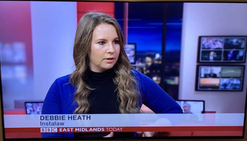 Instalaw Solicitor Debbie Heath on BBC News